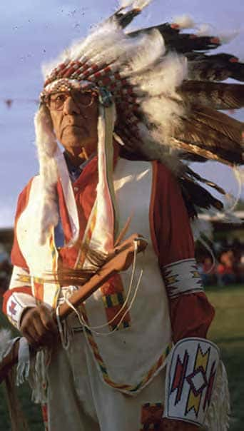 Joe Medicine Crow in 2011 photo by Glen Swanson, Smithsonian, The National Museum of the American Indian